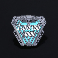 SG Avengers Brooches Iron Man Tony Stark I Love You 3000 Times Thor Flash Captain America Super Hero Mask Pin Men Coat Jewelry thor brad apostle ny times bestseller