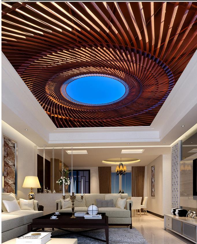 Skylight Ceiling Living Room Bedroom Ceiling Frescoes