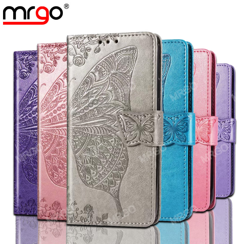 MRGO Case For Samsung Galaxy S10 Plus Cover S10E Butterfly Pattern Flip Wallet Case for Samsung S7 Edge S8 S9 Plus Leather Case