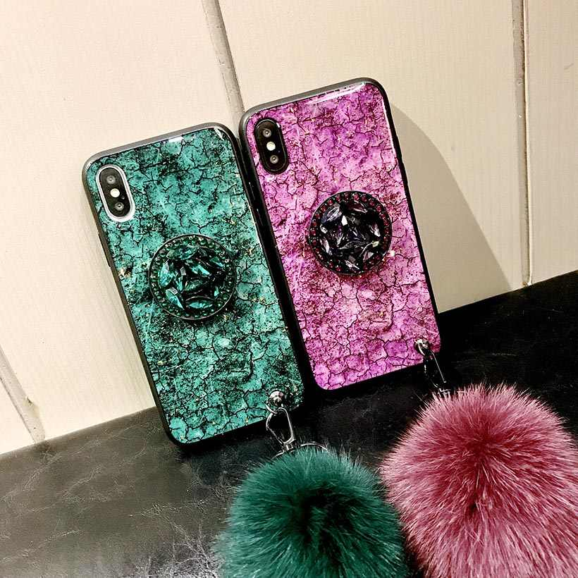 Case for Samsung Galaxy A7 2018 A6 Plus A8 A9 Star Lite A9S A5 2017 A2 Core A2E A50 A70 A40 A30 A20 A10 Plush Ball Holder Cover