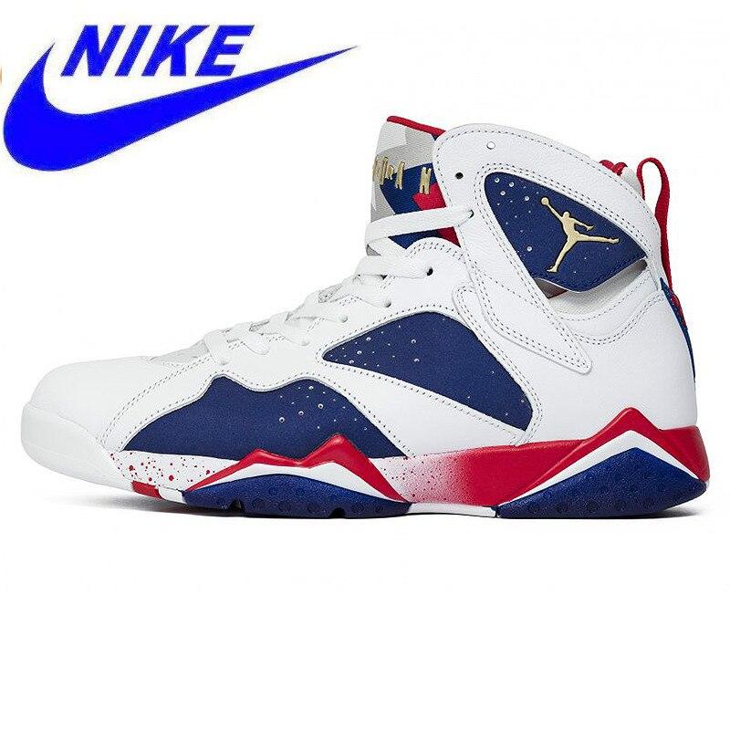 96c6913678ec3 Original Nike Air Jordan 7 Olympic Alternate AJ7 Joe 7 Olympic Men s  Basketball Shoes Sneakers