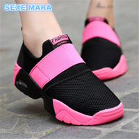 2017 Size 35 44 Lovers Running Shoes For Women Sneakers Shoes Air Cushion Sports Shoes Wedge