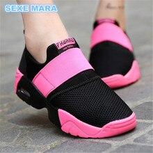 2017 Μέγεθος 35-44 Εραστές Παπούτσια για Γυναικεία παπούτσια πάνινα παπούτσια Αερόστρωμνα Αθλητικά παπούτσια Σφήνα Αναπνεύσιμο υπαίθριο περπάτημα Τρέξιμο