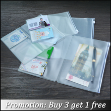 Moterm PVC Zipper bag For Travel Journal Notebook Accessory card holder bag storage Standard/Pocket/Passport for cowhide diary