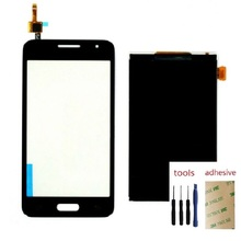 For Samsung Galaxy Core 2 SM-G355H/DS G355H G355F Touch Screen Digitizer Sensor + LCD Display Screen + Adhesive + Kits чехол для для мобильных телефонов oem 1 bling samsung core 2 g355h for samsung galaxy core 2 g355h
