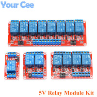 4pcs Lot 5V Relay Module Board Kit Shield With Optocoupler Isolation Support High And Low Level