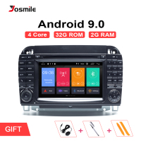 Josmile AutoRadio 2Din Andorid 9.0Car DVD Player For Mercedes/Benz/W220/W215/S280/S320/S350/S400 S Class 1998 2005GPS Navigation