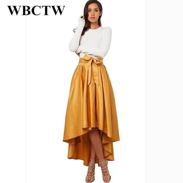 WBCTW Jupe Longue Femme Solide Mode XXS,10XL Plus La Taille Taille Haute  Jupe Maxi