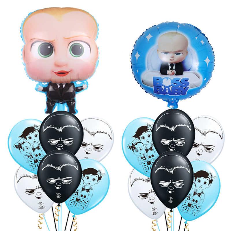 1 סט בוס תינוק רדיד בלוני קריקטורה נושא לטקס בלוני מסיבת יום הולדת קישוטי Globos ילדים צעצועי אמבטיה לתינוק מוצרי מתנות