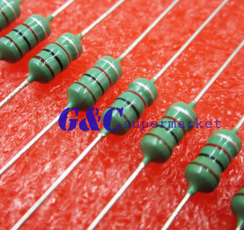 Integrated Circuits Active Components 50pcs 0410 Color Ring Inductance 1mh 102k 1/2w Axial Rf Choke Coil Inductor And Digestion Helping