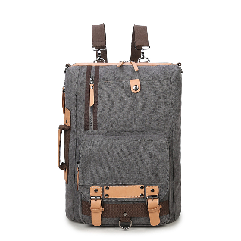Men Travel Canvas Backpack Large Capacity Male Luggage Shoulder Bag Computer Backpacking Men Student Vintage Casual Backpack kaka brand stylish waterproof large capacity backpack male luggage travel shoulder bag computer backpack men multifunctional bag