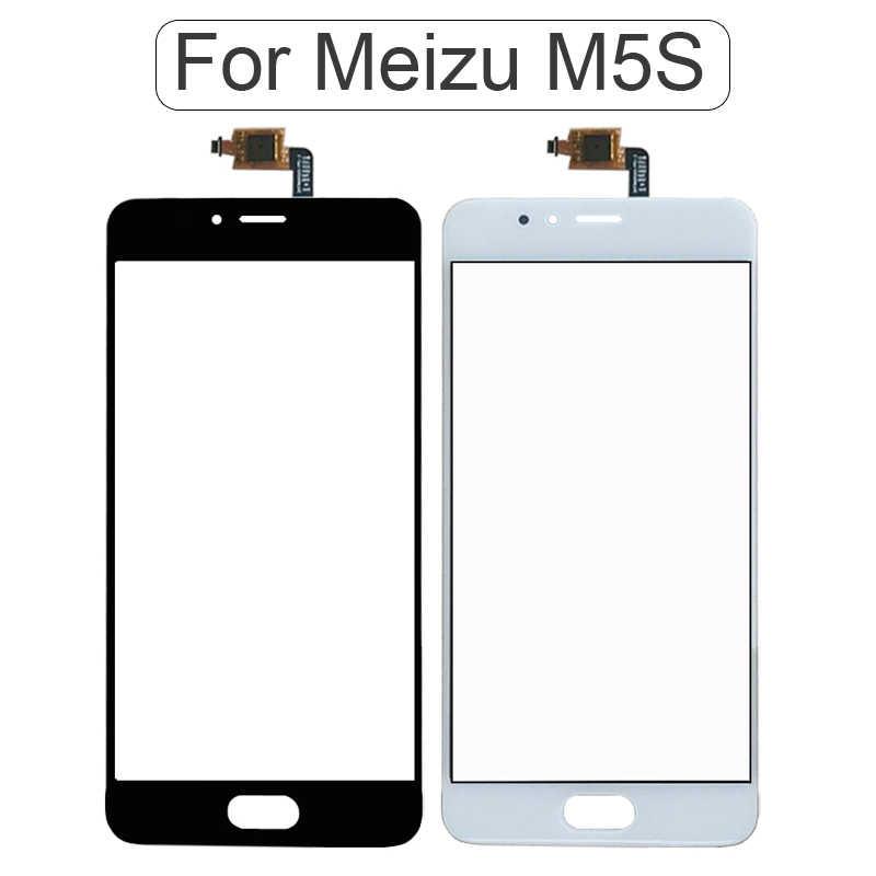 M5 s البسيطة لمس لوحة الأمامية لل meizu M5S m5 ملاحظة صغيرة شاشة اللمس الاستشعار شاشة lcd محول الأرقام زجاج غطاء استبدال