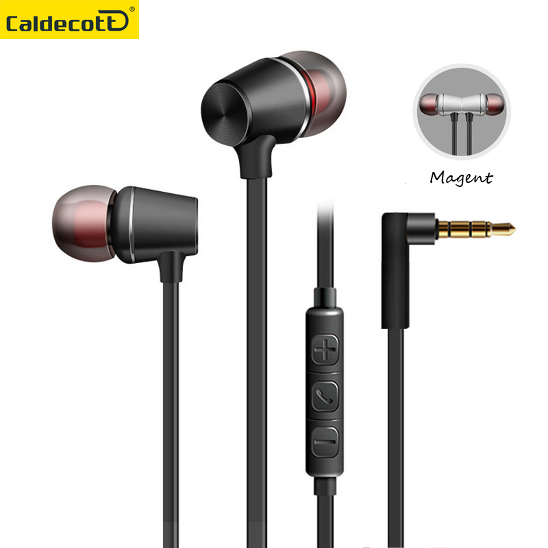 Magent In-Ear wired Earphone for phone with Microphone 3.5mm jack standard stereo headset Magnetic volume adjustable headphone keeka mic 103 stylish universal 3 5mm jack wired in ear headset w microphone red blueish green