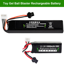 ZhenDuo Toys 11.1V 1800mAh 2000mAh 7.4V  30C Battery For Gel Ball Blaster Toy Gun Jinming Gen8 M4a1 SCAR