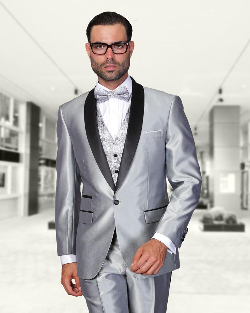 Silver Suit Jacket Dress Yy