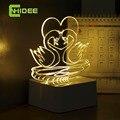 CNHIDEE Innovative 3D Night Light Loving Birds Mandarin Duck USB Touch Table Lamp as Creative Valentine Holiday Gift Fovere Love