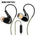 Szkoston profissional fone de ouvido estéreo orelha gancho à prova d' água esportes cabeças para telefones celulares fones de ouvido qualidade do som baixo pesado
