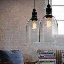 Lámparas colgantes clásicas americanas de hierro blanco lámpara colgante de campana E27 110V 220V para comedor planetario de decoración del hogar