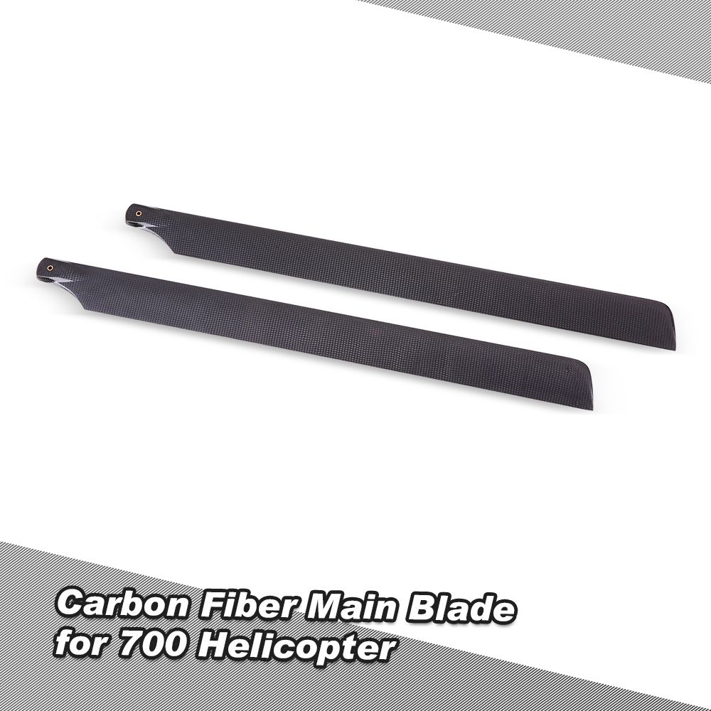 High Quality New Carbon Fiber Main Blades Propeller for 700 Class RC Helicopter Airplane Propelles RC