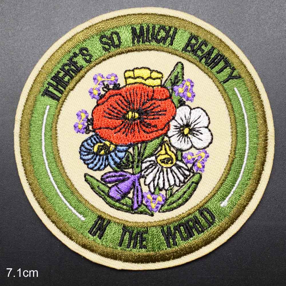 Parches de belleza con flores para planchar en la ropa, bordados, para calcomanías para ropa, venta al por mayor