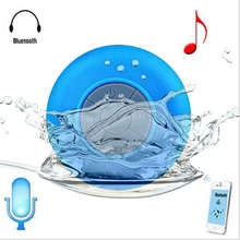 Mini Portable Subwoofer Shower Waterproof Wireless Bluetooth Speaker Car Handsfree Receive Call Music Suction Mic(without box)