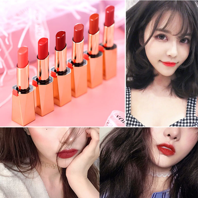 Gold Tube Lipstick Magnet Small Gold Bar Red Brown Moisturizing Lip Balm Gifts For Women Beautiful Colors Makeup For Girls
