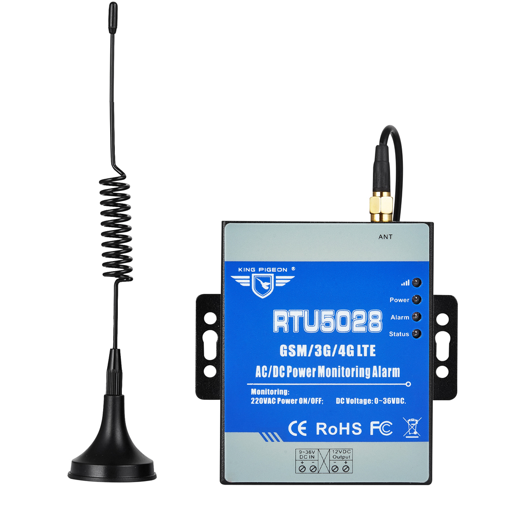 Wireless GSM 3G 4G Power Failure/Recover Alarm System With 1 Output For Siren Sound Supports Modbus TCP RTU5028