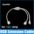 1pcs led strip split two in one extension cable with 4 pin connect wire 1 to 2 for 5050 3528 rgb strips