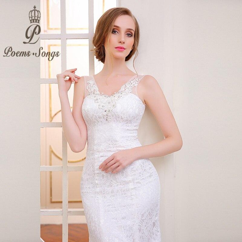 Real photo high quality lace flowers V-neck mermaid wedding dresses 2020 sexy backless vestido de noiva robe de mariage