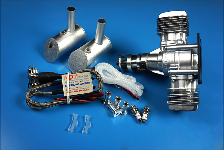 RC airplane models engine DLE brand 40cc Gasoline engines DLE40 twin with muffer cdi spark plug for rc gasoline airplanes