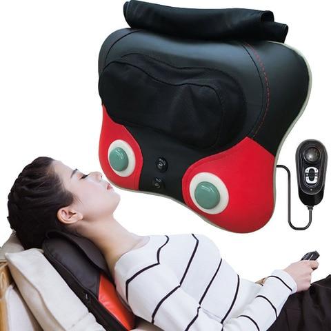 pescoco massageador volta cintura travesseiro eletrico shiatsu cervical dispositivo massageador domestico pescoco quadril perna corpo