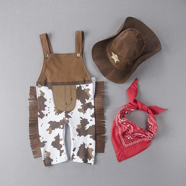 Umarden Cowboy Cow Boy mono disfraz para bebé, niño pequeño infantil Halloween Navidad cumpleaños fiesta Cosplay vestido de lujo