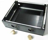 Полный алюминиевый Мощность усилитель шасси/AMP Корпус/случай БП коробка DIY