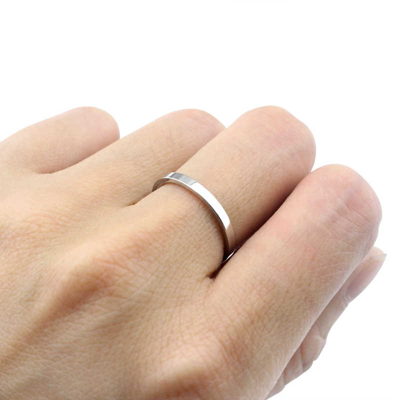 New Fashion Super Fine Smooth Steel Titanium Ring Top Quality Sample Rose Gold Stainless Loves Friends Rings Jewelry