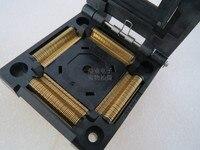 Clamshell IC51-1604-1350 LQFP160 TQFP160 QFP160 YAMAICHI espaçamento 0.5mm assento Queimando IC Tomada Teste Adaptador de banco de ensaio