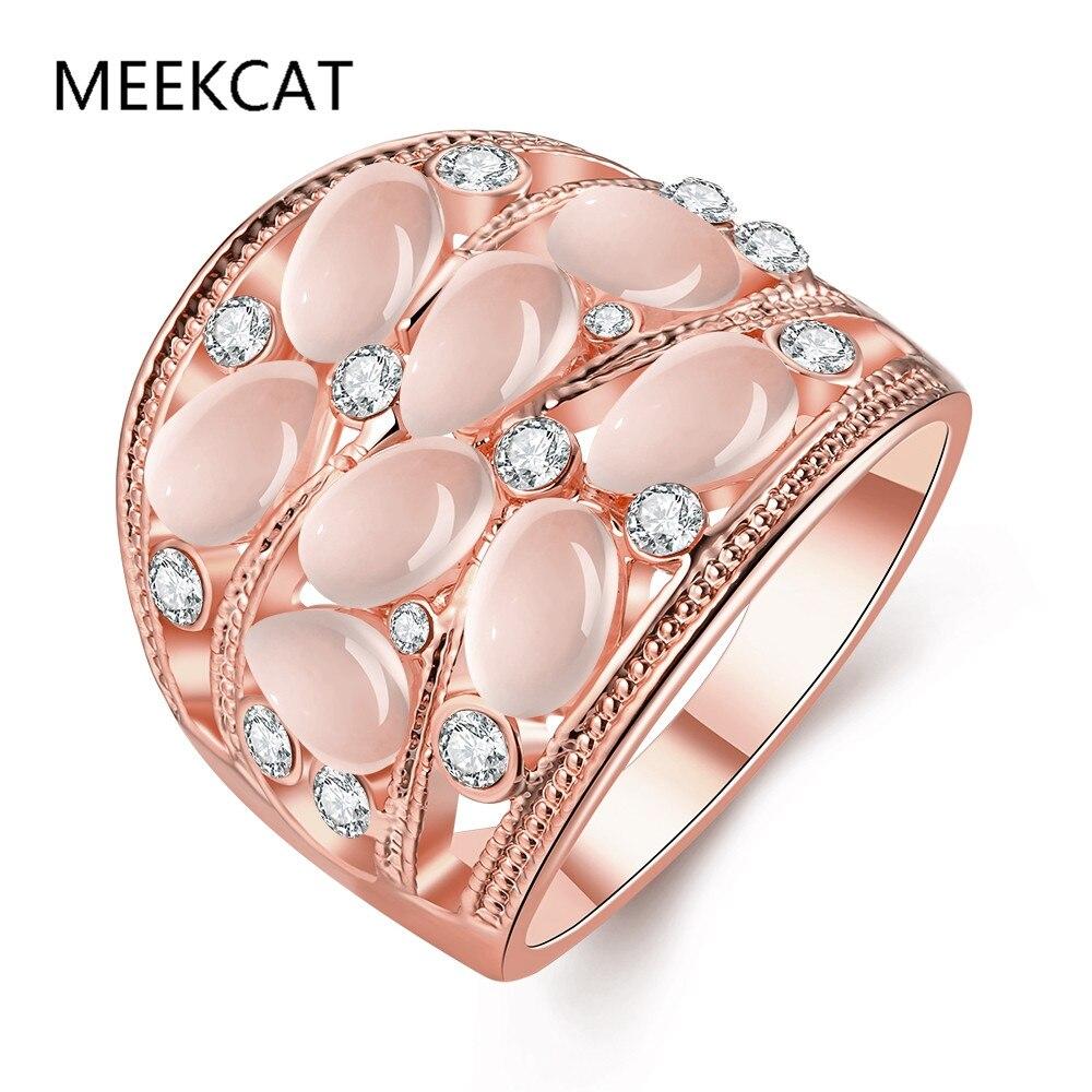 Rose gold Color Opal Bracelet And Bangle Elastic Big Bracelet ...