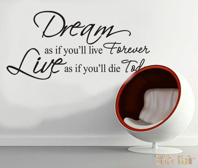 inspirational quotes English proverb wall sticker quotes decoration ...
