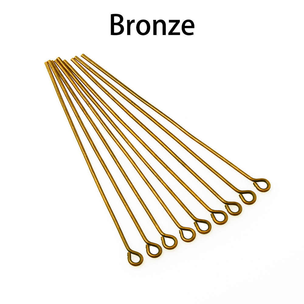 sewing Bronze DIY.. Jewelry Lot of 25 or 50 Flat Head Pin 30 mm findings