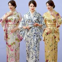 Japanese Anime Kimono Fashion Bathrobe Costume Woman Dress Japanese Performance Party Elegent Kimono Woman Shoot Clothing