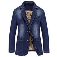 Мужская джинсовая куртка и пальто в винтажном стиле, большие размеры XXXXL, импортный мужской костюм, пиджак, верхняя одежда на весну и осень, М
