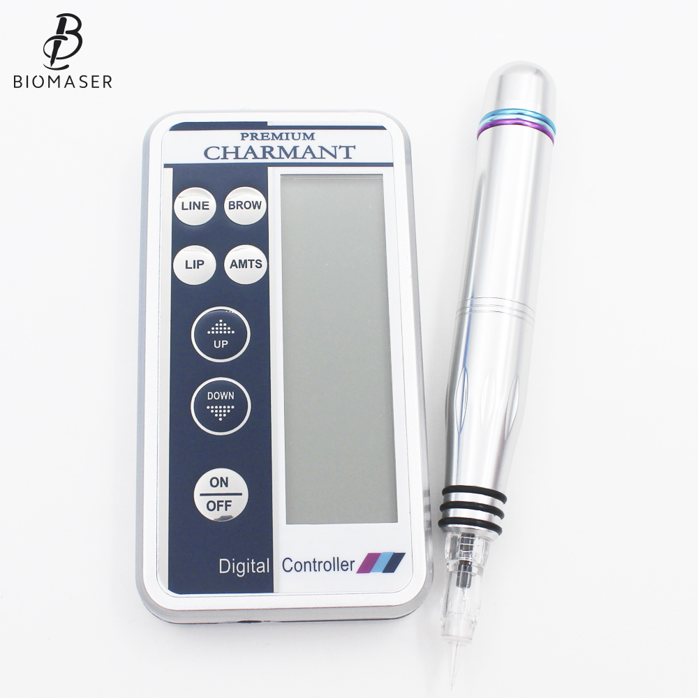 1pcs Charmant Permanent Makeup Tattoo Machine kits Professional Digital tattoo Machine Eyebrow Lip Pen Machine Sets
