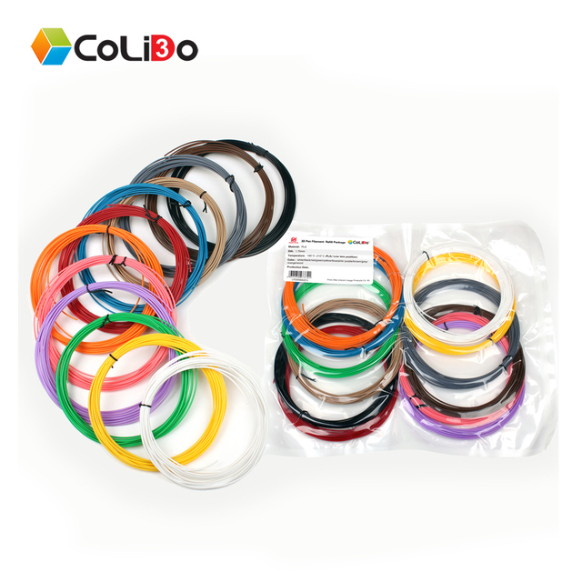 CoLiDo 3D Printing Pen PLA Filament 175mm 1 Pack 12 Different Colors For 3d