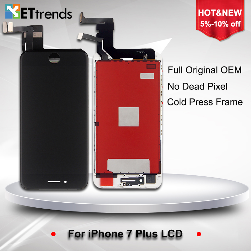 2PCS/LOT Original NEW LCD Display for iPhone 7 plus LCD Screen Digitizer Touch Glass Screen Assembly Replacement DHL Free Ship