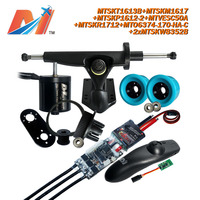 Maytech for trucks skateboard 6374 170kv motor and speed control and remote and drive belt with pulley wheels