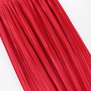 Image 3 - 2018 ผู้หญิงใหม่แฟชั่น Elastic Plus ขนาดยาวกระโปรงสูงเอว Maxi กระโปรง Saia Bling Metallic ผ้าไหมเกาหลี Tutu กระโปรง