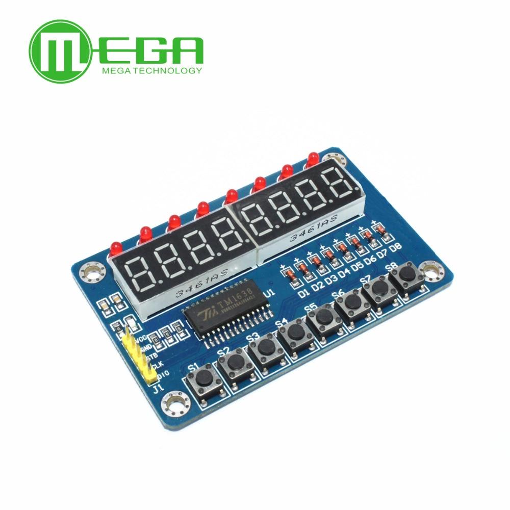 10pcs New Key Display For AVR New 8-Bit Digital LED Tube 8-Bit TM1638 Module(China)