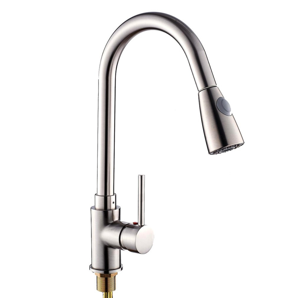 kitchen faucet brushed nickel unique design pull out spray brushed nickel finish kitchen 19486