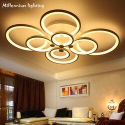 Habitación moderna lámpara de estilo led lámpara de techo dormitorio arte lámpara de techo interior iluminación AC110-240V Qianxia-9018