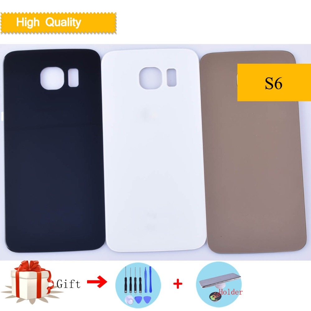 For Samsung Galaxy S6 G920 G920F G9200 G920A Housing Battery Cover Back Cover Case Rear Door Chassis Shell S6 Cover Replacement image