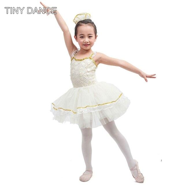 New arrival of Sequin lace ivory spandex bodice ballet tutu ballerina girl  dance costume tutu kid performance dance tutu 16081 6527effc33f4